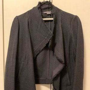 Vince cropped moto jacket in Navy size Small